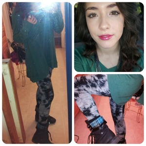 Target sweater and leggings (:  Papya boots