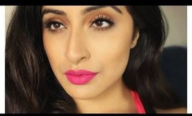Summer Bronze & Bold Pink Lips