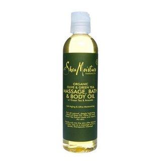 Shea Moisture Organic Olive Green Tea Avocado Massage Bath Body Oil