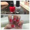 OPI, Red & Glitter