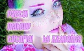 Pastel Jeffree Star Rainbow Freckle Makeup Tutorial