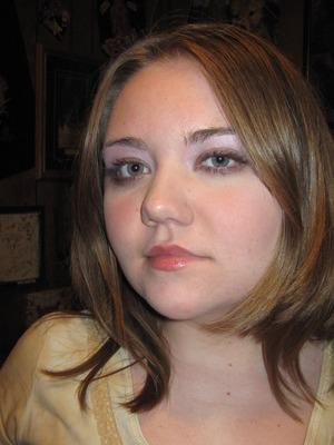 Did my friends makeup, Lavender eyes :)