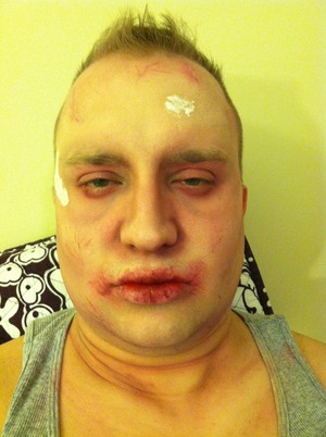 I get down one night so the Hubby lets me Zombify him :) he wasn't finished but on his way!