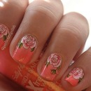 Rose Water Decal Nails