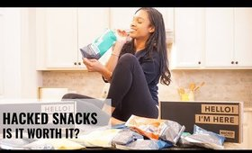 HACKED SNACKS FIRST IMPRESSION | HEALTHY PROTEIN SNACKS MUKBANG | PFC BALANCED FOOD | ADRIANA LATELY