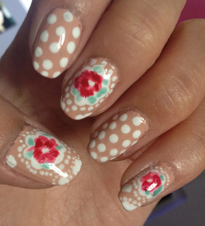 Inspired by Cath Kidston Provence Rose print www.kakabeautyblog.com