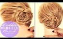 HIDDEN ROSETTE BRAID BUN TUTORIAL | CUTE HAIRSTYLES FOR MEDIUM LONG HAIR | UPDO Peinados Trenzas