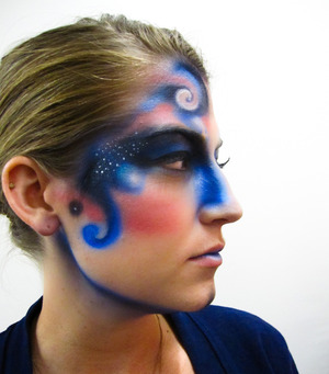 Airbrushed Galaxy makeup