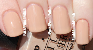 I finally found a nude/neutral polish that I actually like! This is OPI Samoan Sand. An awesome cream nude for people with a super pale complexion like me!  http://packapunchpolish.blogspot.com/2012/09/opi-samoan-sand.html