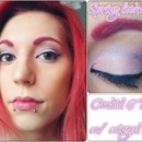 Orchid and Pink with winged liner