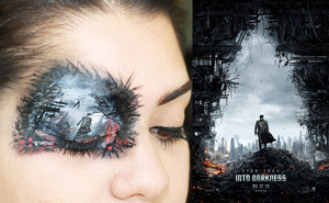 """This look is inspired by the new """"Star Trek"""" movie that will premier this Friday. I have created makeup looks for some of the hottest movies of the summer. Stay tuned for more looks!"""