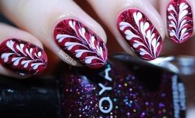 Easy Dry Marble (No Water) Hearts Nail Art Tutorial   Lacquerstyle