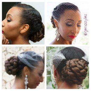 Natural updos for brides... for booking visit www.styleseat.com/tatianawilson