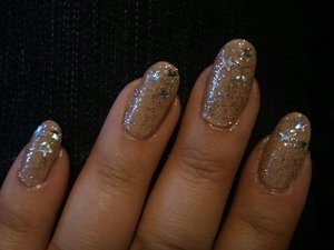 Nude Silver Glitter and Stars