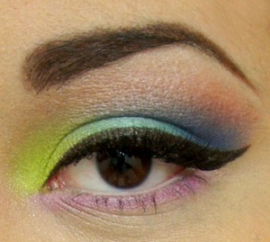 Love this palette. I used all of the colors in this look.