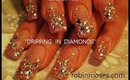 PINK NAILS COVERED IN DIAMONDS: robin moses birthday nail art design tutorial