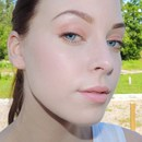 Light orange summer makeup