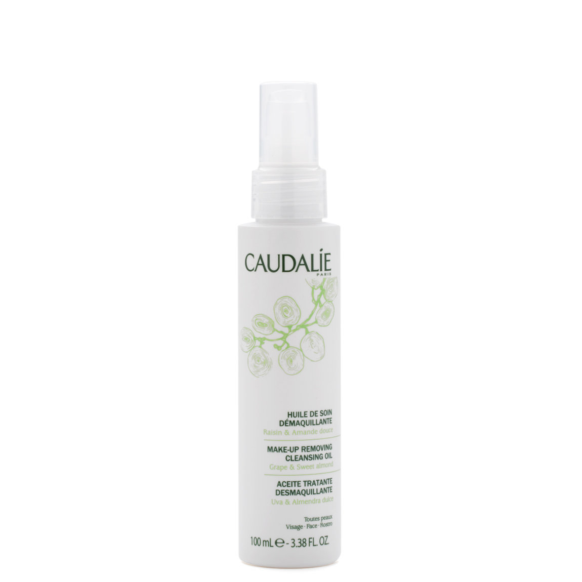 Caudalie Make-Up Removing Cleansing Oil product smear.