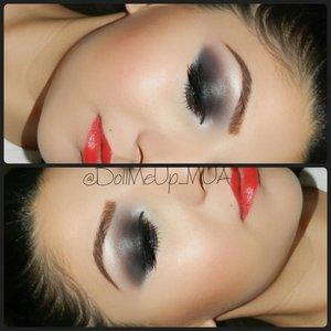 Classic Smokey Eye w a beautiful red lip