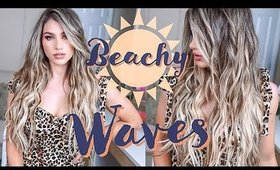 HOW TO BEACHY WAVES WITH FLAT IRON | Hair Tutorial