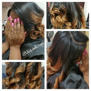 Natural hair, colored, straightened and styled... for booking visit www.styleseat.com/tatianawilson