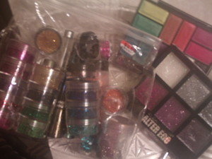 My glitter collection.