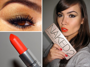 MAC Morange & Naked 2 http://www.maryammaquillage.com/2012/02/hot-morange-naked-2-cool.html