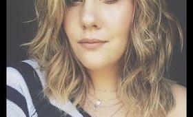 Styling My Air Dried Hair | Brittany Adam