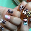 nutella design .Lime crime/ OPI / NUBAR / BOW