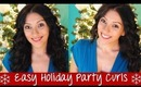 Easy Holiday Party Curls (Conair Curling Wand) | Instant Beauty ♡