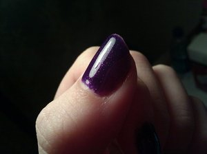 Love this color. The formula / coverage is horrible, it takes like 5 coats but I love the final result so much that I go through with the torture and the pain. It looks like the universe is on the bed of my nail. Gorgeous.