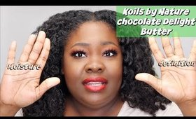 Soft TwistOut with  Koils by Nature - Chocolate Delight Butter