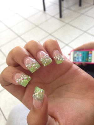 I did not do this  it was at a salon & these are my sister's nails