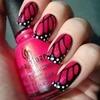Pink Black Nails
