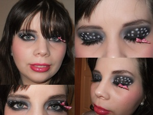 This is my Polka dot eye look I created, it was so fun heres the tutorial on how to recreat it! http://youtu.be/tuRAwobatKk
