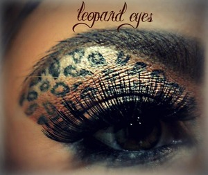 Leopard print eyes using mac eyeshadows and liner :)