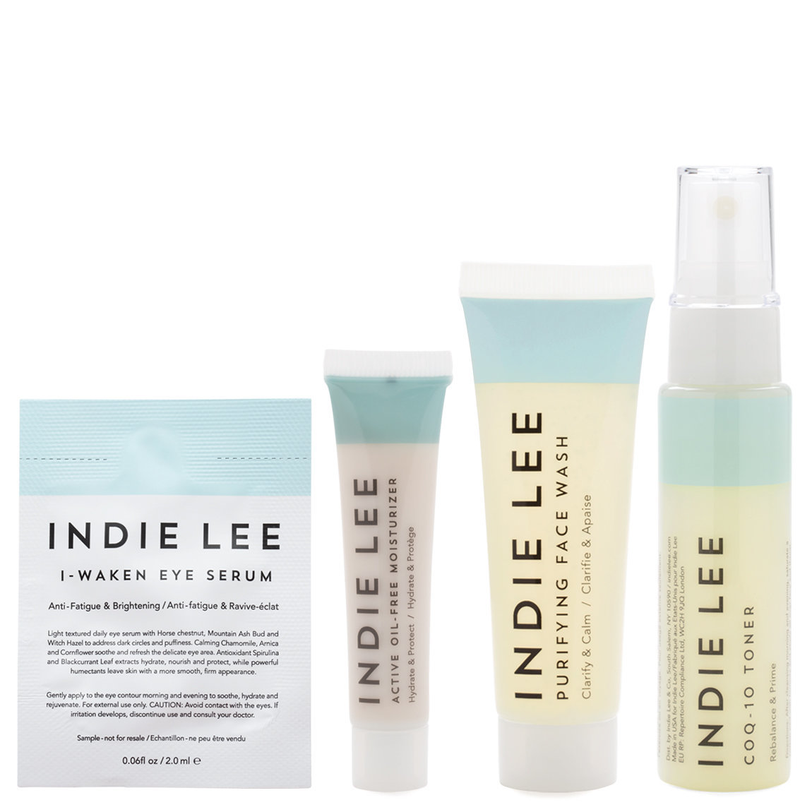 Indie Lee Clarity Kit product smear.