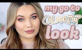 My Go To COLOURPOP Makeup Look | Using Single Shadows!