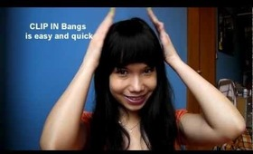 How to - CLIP IN Bangs (hair tutorial)