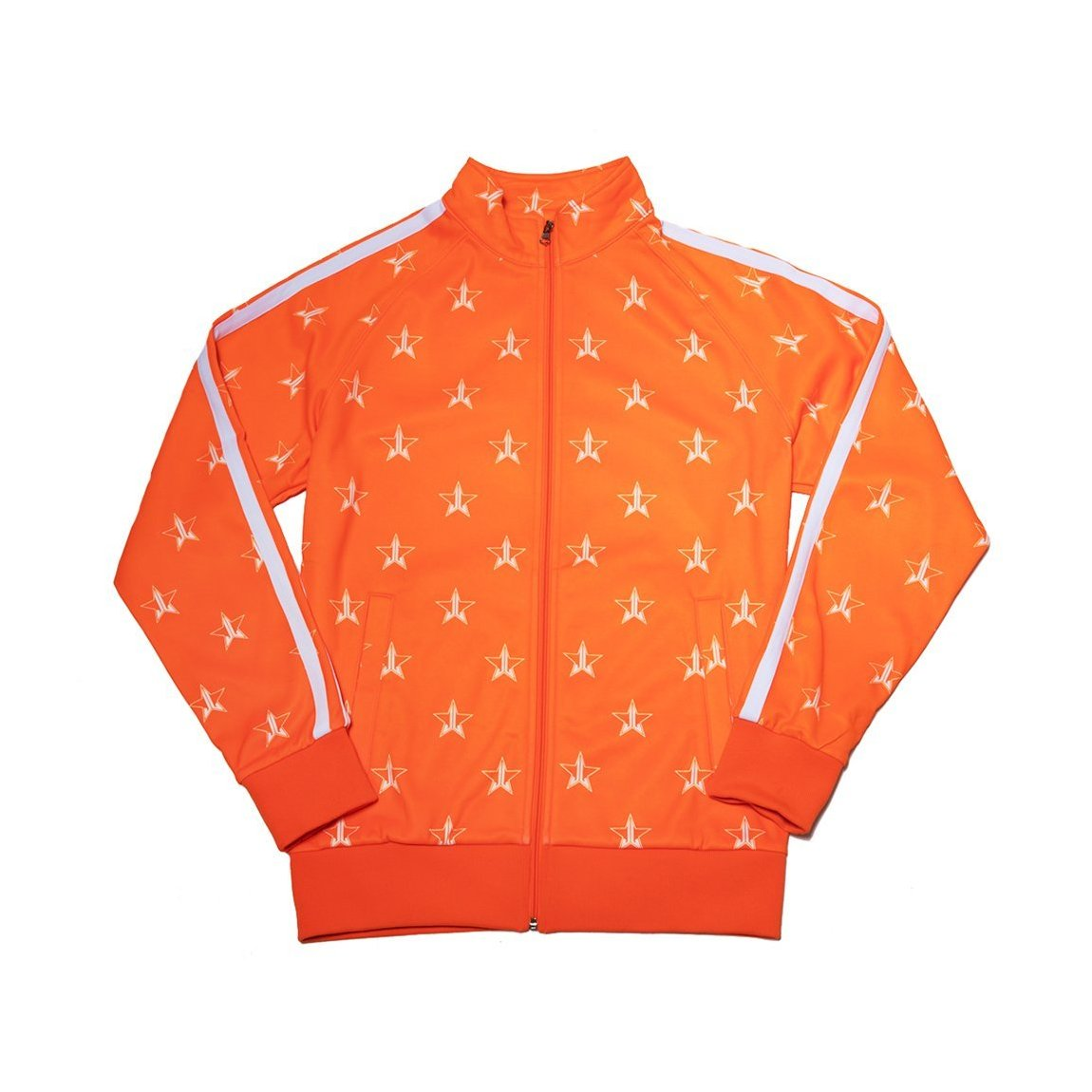 Jeffree Star Cosmetics Safety Orange Track Jacket Small product swatch.
