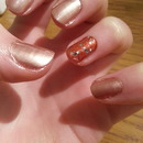 Autumn glitter nails