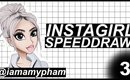 InstaGirl SpeedDraw #3 | @iamamypham