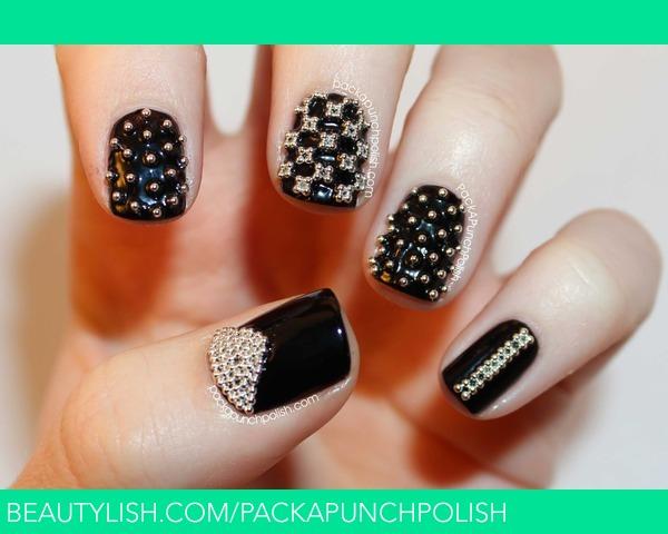 Micro Bead Nail Art Samantha Ss Packapunchpolish Photo