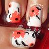 Marimekko Inspired Floral Nail Art