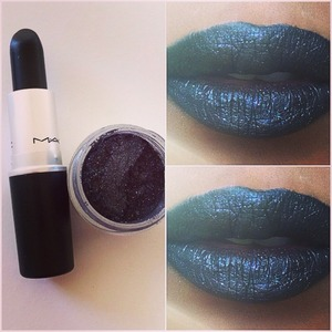 "Used ""Hautecore"" Lipstick by MAC & Stella Loose Pigment by Sugarpill"