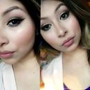 light cut crease eyeliner nude lips