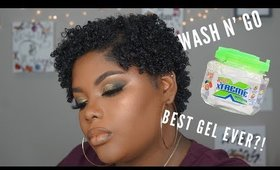 Wash N Go Routine on Short Natural Hair | Shakirah Glam Artist