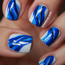 Minimalist abstract water-inspired nails