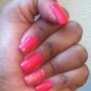 h Hot Pink Nails