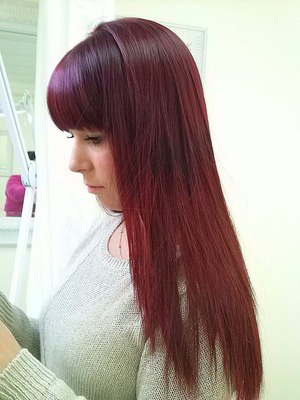 Red Hair done on client by me using a hi Lift Colour She was initially a dark brown
